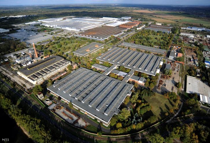 A győri ipari park területe Fotó: H. Szabó Sándor